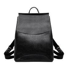 2019 여성 가죽 백팩 여자를위한 고품질 sac a dos 학교 가방 빈티지 bagpack 여행 대용량 daypack 여성