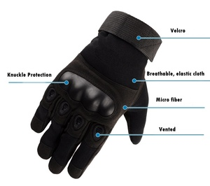 Image 2 - Tactical gloves Hard Knuckle Full Finger Gloves Men Airsoft Paintball Hunting Shooting Special Army Military Combat Police Duty