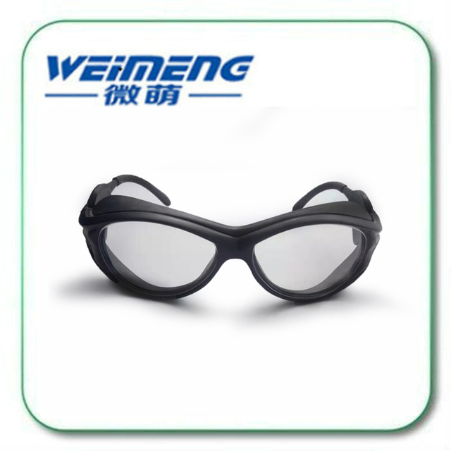 Weimeng brand Fashion Glass Material Black Frame Yellow light protective safety Goggles & glasses 420nm-480nm for Laser machine