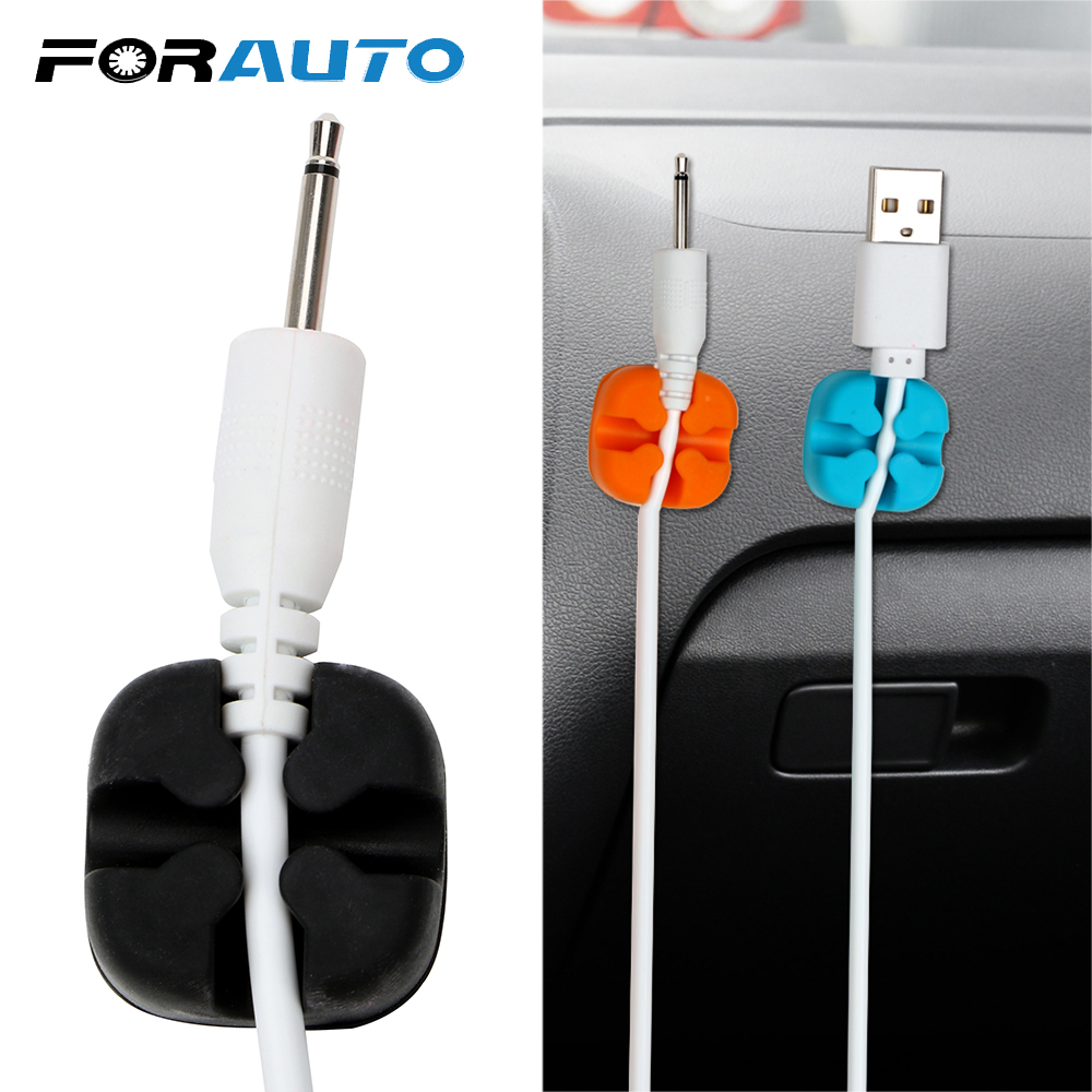 8pcs Wire Cord Clip Phone USB Charger Cable Holder Organizer Fixer Clamp Bracket