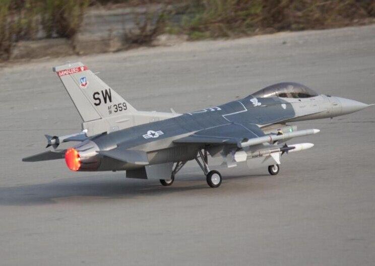 RC samolot odrzutowy Freewing F 16 F16 Fighting Falcon 90mm metalowe efr samolot PNP w Samoloty RC od Zabawki i hobby na  Grupa 1