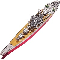 Piececool 3D Metal Puzzle Toy DIY Emulation Ship Model Metal Craft Military Battleship Yamato Building Set Toys For Kids Gift
