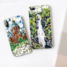 CASEIER Mosaic Phone Case For iPhone X XS MAX XR Japanese Style Soft Silicone Funda For iPhone  8 7 6 6s Plus 5 5s SE Capa Case caseier japanese style phone cases for iphone x xs max xr soft silicone tpu funda for iphone 8 7 6 6s plus 5 5s se capa case