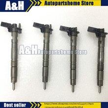 4pcs 0445116011 test fuel injector common rail injectors fit for 03L130277A 03L130277 VW AUDI SEAT SKODA 2.0 TDI