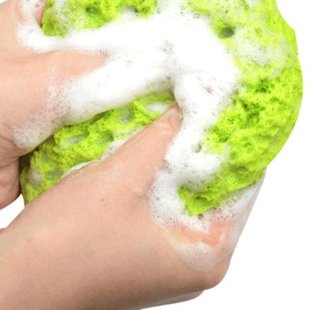 Green & Orange Natural Ocean Sea Sponge Bath Body Shower Durable Body Sponge Washing Spa Loofa Bathroom Shower Tools