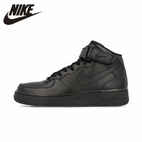 Nike Air Force AF1 Original Official Breathable Men's Skateboarding Shoes Sports Sneakers Classique High Flat Breathable Shoes