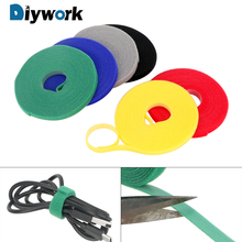 5m*1cm Fastener Reusable Magic Tape Nylon Cable Ties Power Wire Loop Tape Nylon Straps
