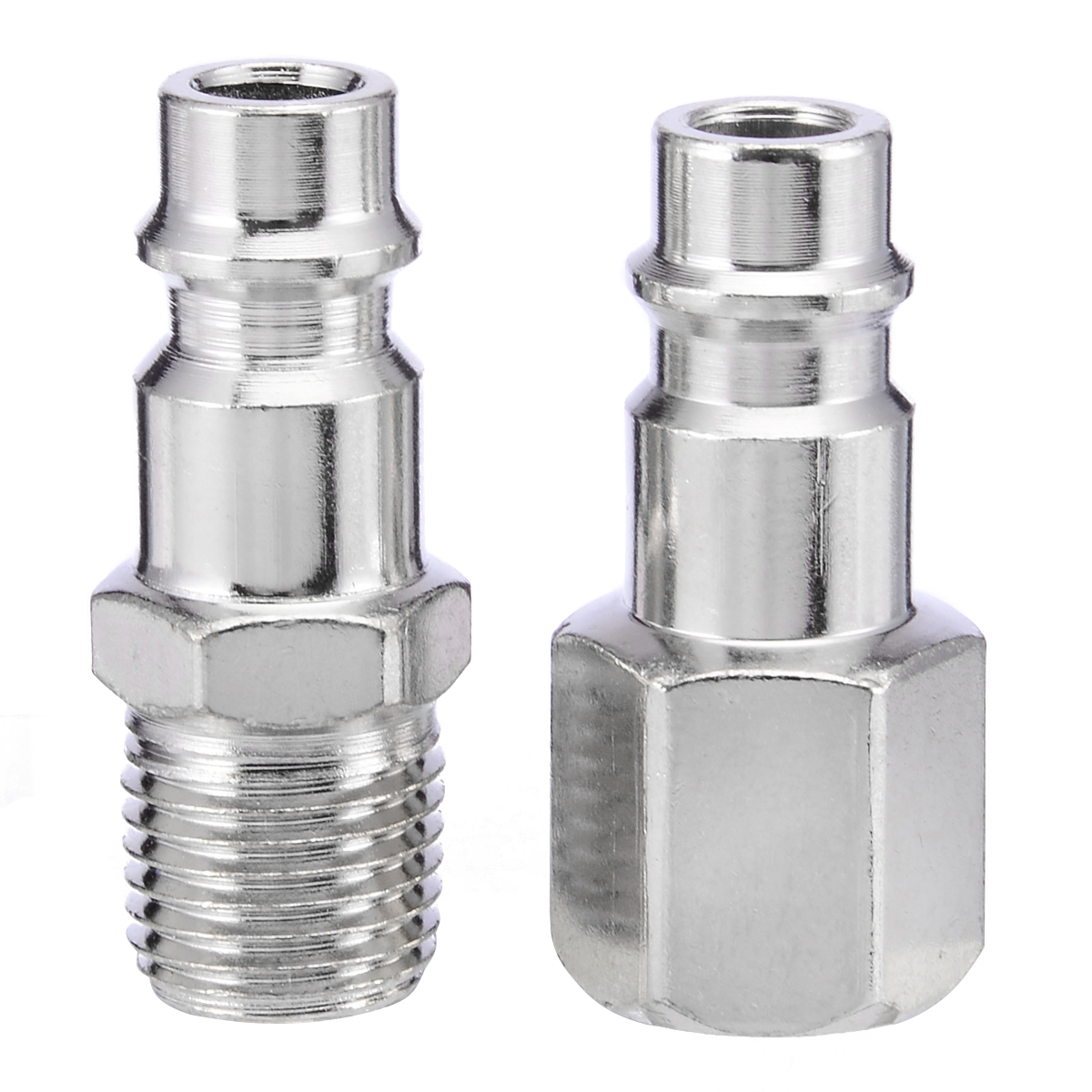 5pcs Mayitr Euro Air Line Hose Compressor Connector Quick Couplers Set Male/Female 1/4 BSP Thread For Hardware Accessories 2pcs air line hose connector euro female quick release fitting with 1 4 bsp male thread mayitr for home tool accessories