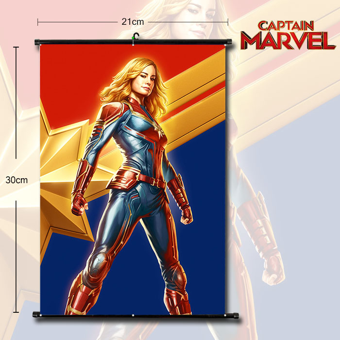 OHCOMICS Marvel's The Avengers Captain Marvel Superhero Comic Posters Painting Coated Poster For Home Bar Wall Decor Stickers