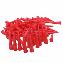 100pcs Red Tapered Dispensing Tips 25G TT Smooth Flow Glue Liquid Dispenser Needle for Fluids Adhesives Pastes Gels Silicones