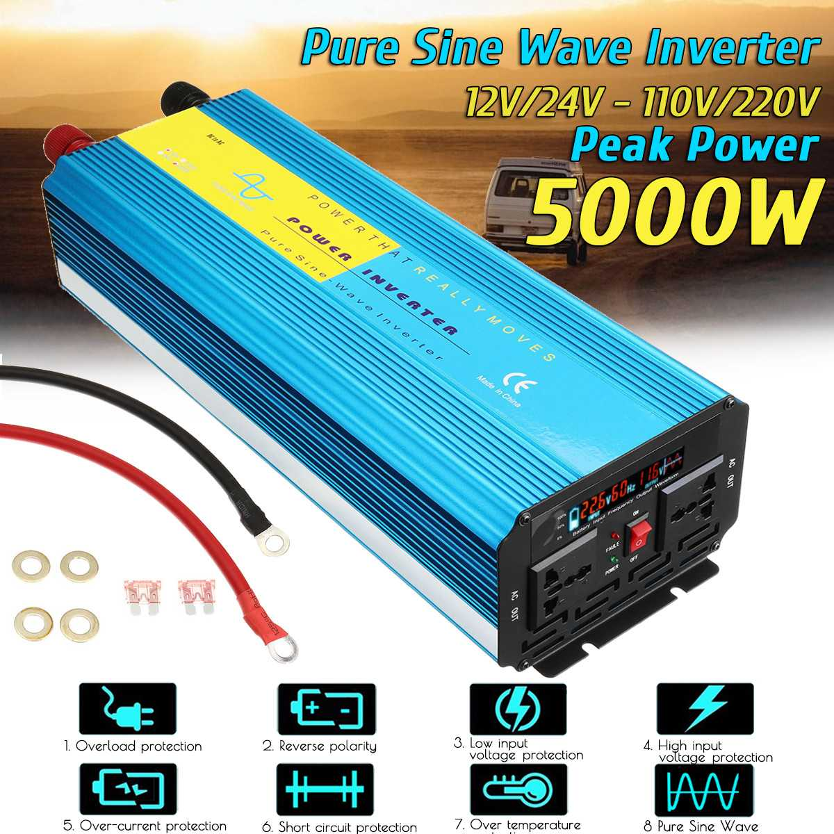 Cheap product 12v 220v inverter 5000w pure sine wave in