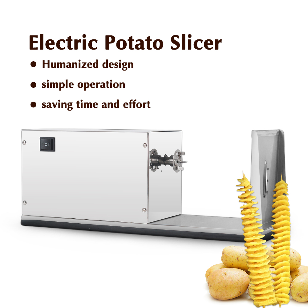 ITOP Electric Potato Spiral Cutter Slicer French Fry Cutters Tornado Stainless Steel Potato Fries Machine With 6cm Blade