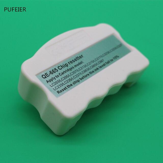 LC201 LC203 Resetter Chip Para O Irmão MFC J460DW MFC J480DW MFC J485DW MFC J680DW MFC J880DW MFC J885DW Impressora Jato de tinta