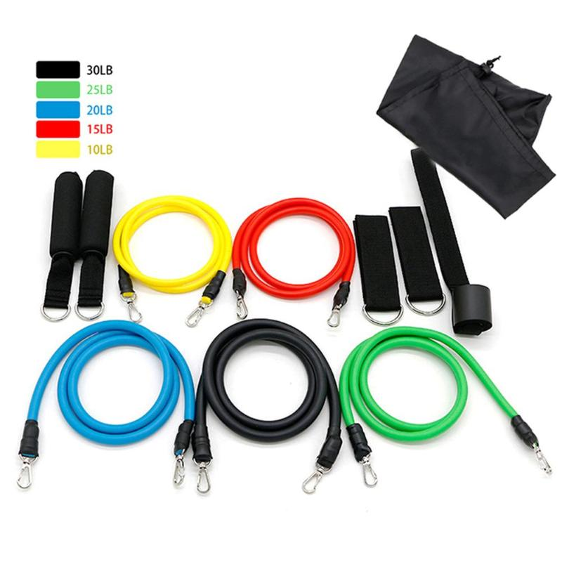 11pcs Pull Rope Muscle Body Training Kits Expander Exercise Fitness
