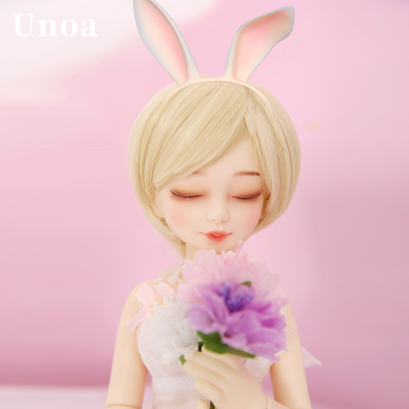 Free Shipping Unoa Chibi Lilin BJD Doll 1 6 Dollfie Multi Faceplates Prim Sleeping Wink Naughty