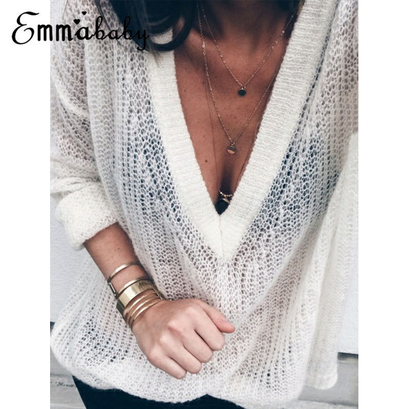 Fashion Causal Loose Solid Women Oversize Jumper Ladies Long Sleeve Knitted Baggy Sweater Tops Pullover Autumn Clothes