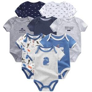 Image 3 - Summer Baby Clothes 8Pcs Newborn GIrl Romper roupas de bebe Cotton Baby Boy Jumpsuits Short Sleeve Baby Onesies Clothing