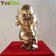 YOUFINE Bronze Buddha statue indoor home decoration family worship