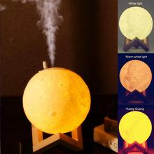 SOLLED Air Humidifier 3D Moon Lamp light