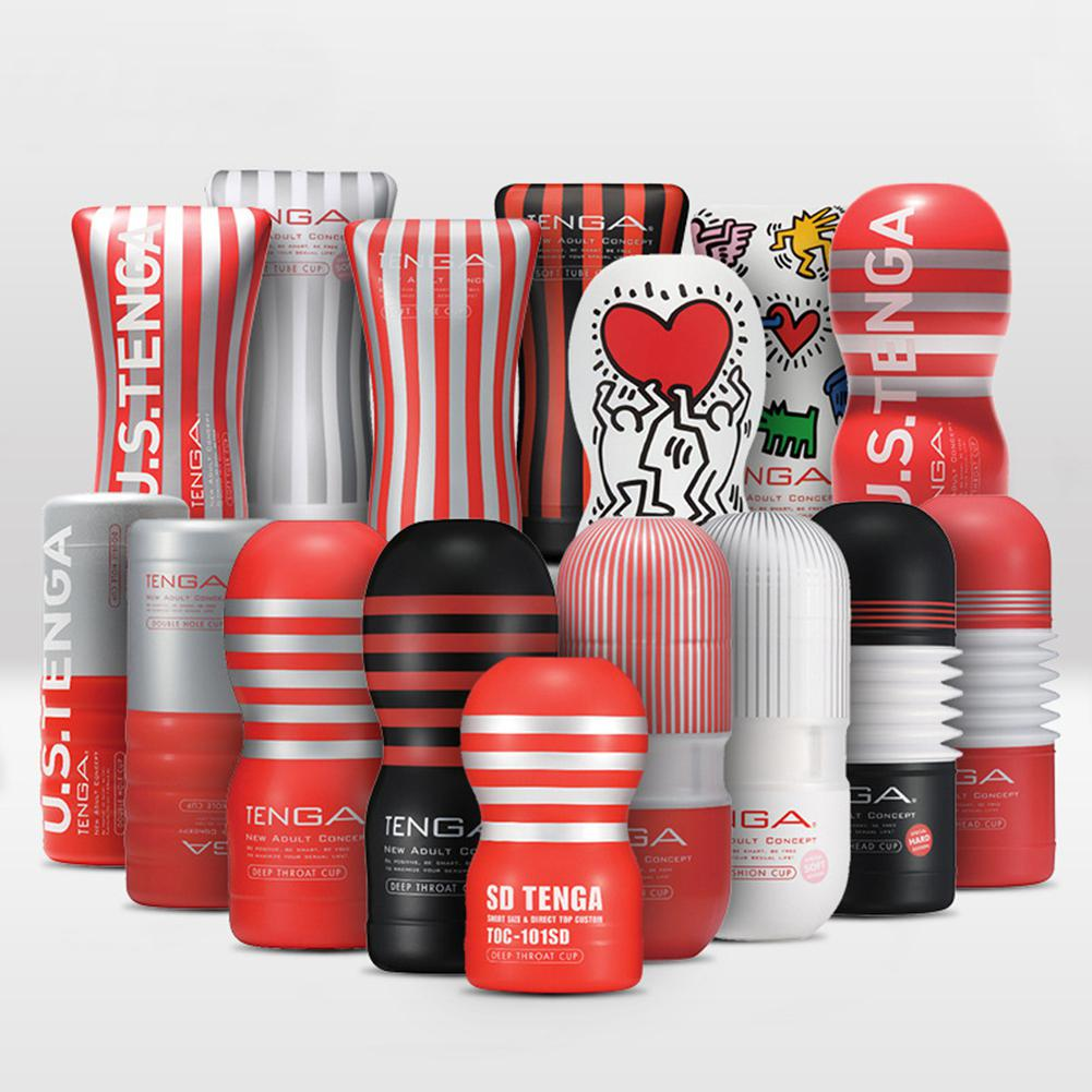 Tenga Reusable Vacuum Sex Cup Soft Silicone Vagina Real Pussy Sexy Pocket Male Masturbator Cup Sex Toys