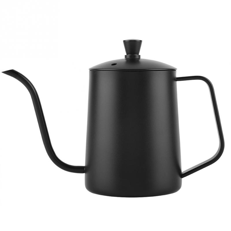 550ml Stainless Steel Gooseneck Coffee Pot Kettle with Lid for Home Kettle Pour Over Coffee and Tea Pot