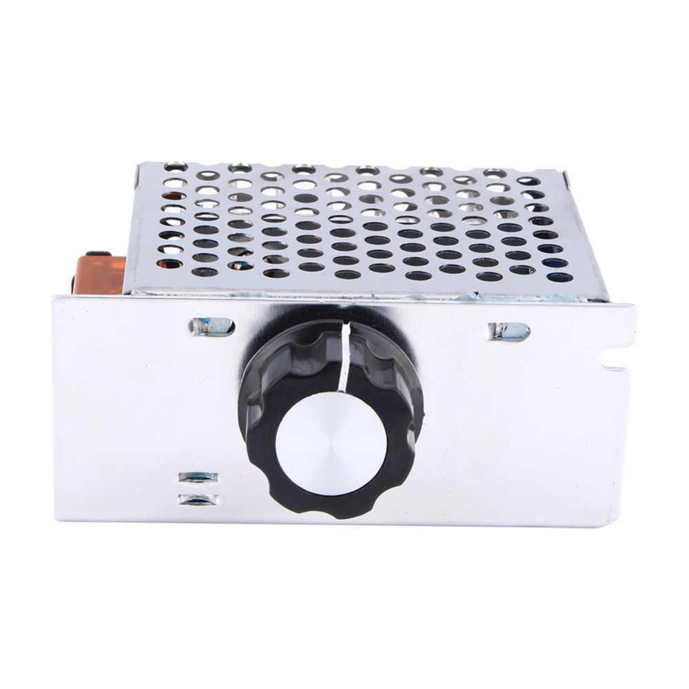 Горячая 4000 Вт AC 220 В SCR контроль кремния led Электронная регулировка регулятора напряжения двигателя диммер термостат оптовая продажа