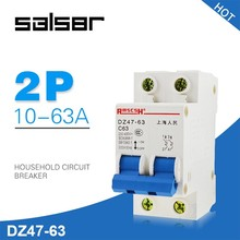 цена на DZ47-63 1-63A 230/400V 2P Mini Circuit Breaker Household Air Manual transfer Power Switch C45 Type