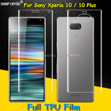 Front/Back Full Coverage Clear Soft TPU Film Screen Protector For Sony Xperia 10