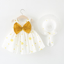 Dress Baby Girl Bow Polka Dot Hat Princess Dress