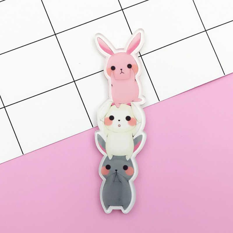 판매 Kawaii 만화 고양이 개 여성용 아크릴 브로치 동물 치마 수제 DIY 걸스 핀 배지 스웨터 학생