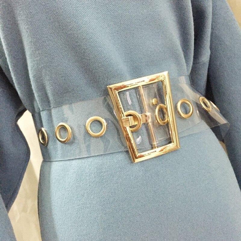 Waist Belt Corset Womens Wide Cummerbunds 2020 New Fashion All Match Leisure Transparent Ceinture Femme Belt Metal Q518