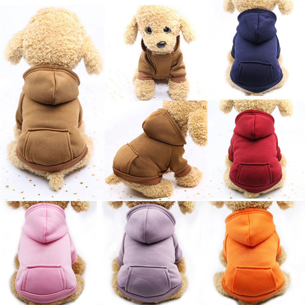 Autumn Winter Pet Dog Hoodies Coat New Apparel Clothes Jumpsuits Dogs Cats Puppy Pet Hooded Sweatshirts For Small Large Dog