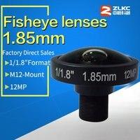 New design CCTV lens 1/1.8 F2.0, 1.85mm fish eye lens, lens for CCTV Surveillance cameras, 12 megapixel HD lens m12 mount
