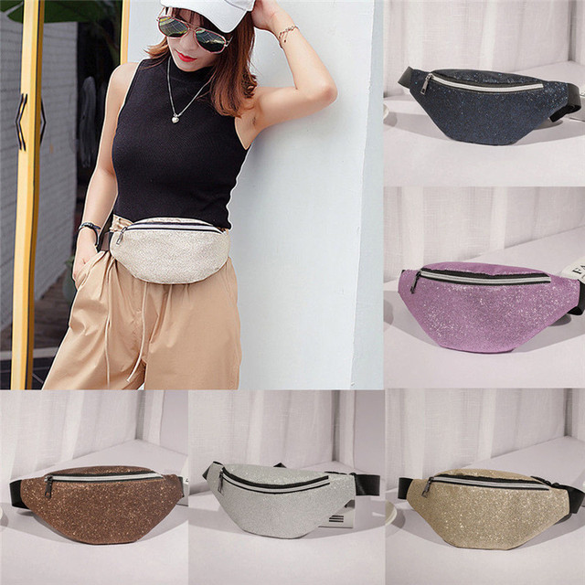 e88d134ac78 Fashion Casual Women Solid Waist Bag Fanny Pack PU Leather Bag Belt Purse  Small Purse Phone Pouch One Size For Girls
