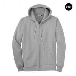 Men Full Zip Long Sleeved Hooded Sweatshirt Fashion Pure Color Autumn Winter All-match Clothes Coat Top Hoodies Men 3
