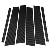 1Set of Car Window B C Pillars Sticker Trim for Mercedes GLC 2015 2016 2017 2018 Carbon Fiber Style Pillars Stickers Car Styling