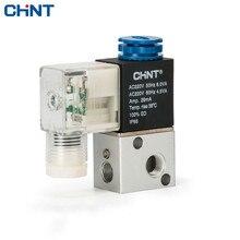 цены CHINT Pneumatic Electromagnetism Valve Reversing Valve Two Position Tee Electromagnetism Valve