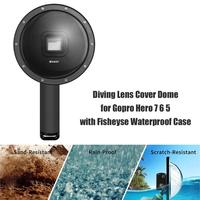 Diving Lens Cover Dome for Gopro Hero 7 6 5 with Fisheyse Waterproof Case Diving Fish Eye Camera Lens Hoods Lens shield