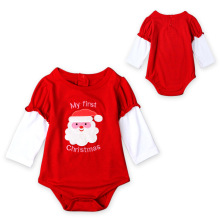 VTOM Christmas Clothes Baby Girls Rompers Infant Newborn Cotton Jumpsuit  Toddler 1st Xmas Clothing