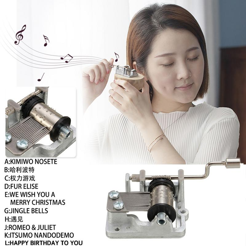 NEW Mini Hand Cranking Music Movement DIY Music Box Decorative Collectibles (A Variety Of Music Available) Cute Gift