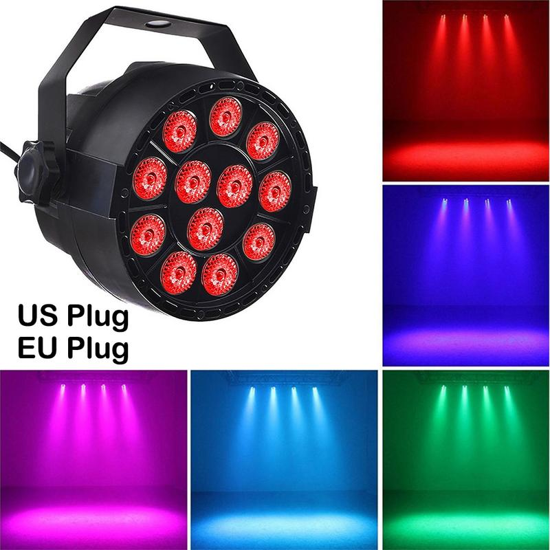 <font><b>Par</b></font> Light <font><b>12</b></font> <font><b>LED</b></font> <font><b>RGB</b></font> 3IN1 18W 1.5*12LED Stage Lighting <font><b>DMX</b></font> 512 Club Disco Party Ballroom KTV Bar Wedding DJ image