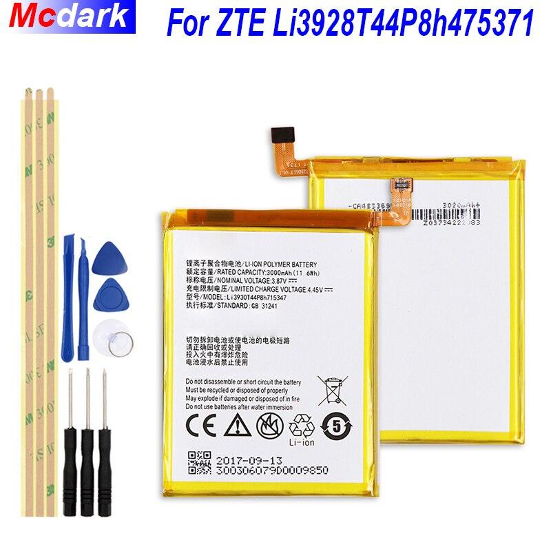 2800mAh Li3928T44P8h475371 Battery for ZTE Blade A1 AXON Mini B2015 C880 C880A C880S Xiaoxian 32800mAh Li3928T44P8h475371 Battery for ZTE Blade A1 AXON Mini B2015 C880 C880A C880S Xiaoxian 3