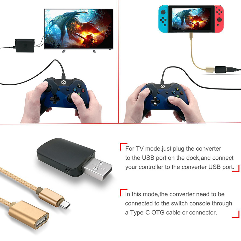 Image 5 - DOITOP Converter for Nintend Switch Controller Adapter For PS3/PS4/Xbox 360/Xbox One Wired Gamepad to N Switch OTG Cable-in Cables from Consumer Electronics