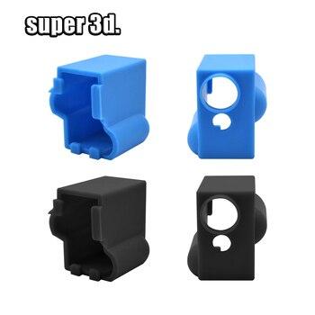 3D Printer  V5 V6/MK7 MK8 MK9 / MK10/ Silicone Socks Block Hotend Silicone Insulation cover Case for 3D printer heating block