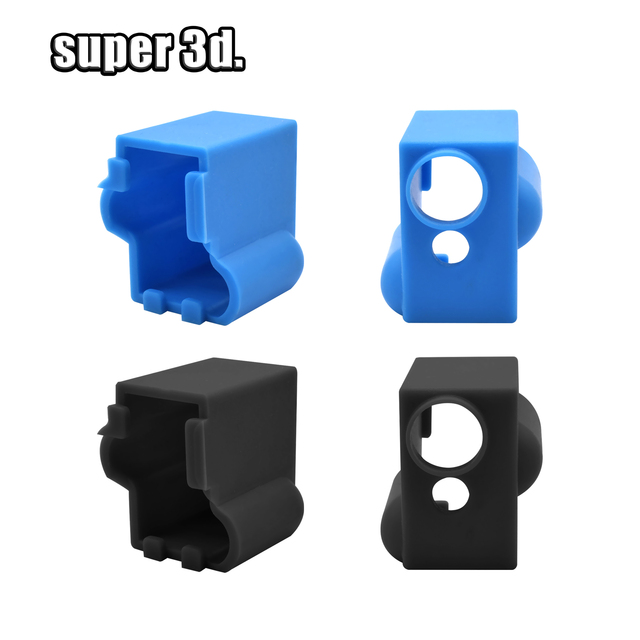 3D Printer V5/V6 volcano Protective Silicone Sock Insulation Cover Case for Heater Block MK8 / MK10 /MK9 Silicone sleeve Hot End 1