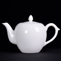 China white porcelain teapot mutton fat jade porcelain tea maker ceramic Kung Fu tea set household single pot filter screen
