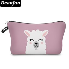 Deanfun Cute Llama Cosmetic Bag Waterproof Makeup Bags Pink Cosmetics Pouchs Travel Storage Gift  51437 laete 51437