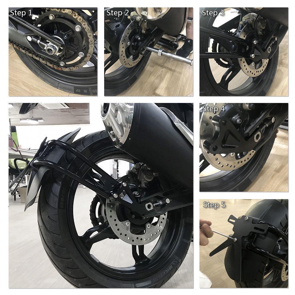 Garde-boue de garde-boue arrière pour moto 2017 2018 BMW G310GS G310R G 310 GS G310 R noir