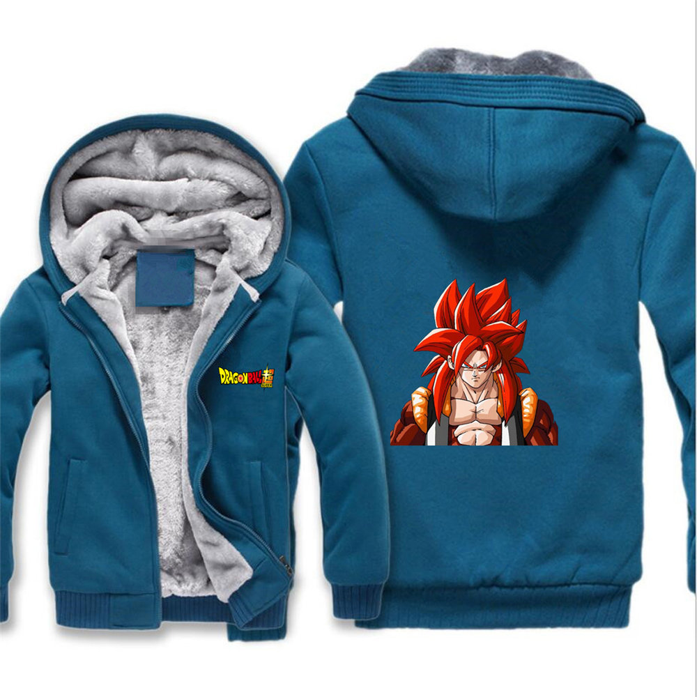 Men's Clothing Intellective Japan Anime Dragon Ball Z Jacket Saiyan Cosplay Cartoon Hoodie Winter Fleece Thick Men Sweatshirt Hoodies Mens Coat Jackets Nourishing Blood And Adjusting Spirit