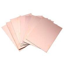 Carte PCB en cuivre simple face FR4, carton en fibre de verre, dimensions 15x20 cm, 10 pièces,